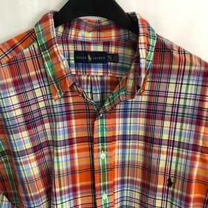 Ralph Lauren Shirt Plaid Button-Front 3XLT Tall